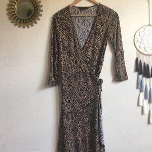 BCBG max azria printed wrap dress.